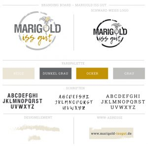 marigold logo corporate design